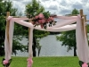 four post decorated arbor - pink
