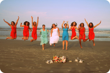 beach wedding florida bridal party