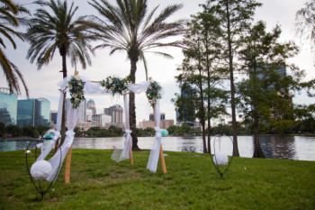florida orlando lake wedding lake eola