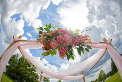 pink-four-post-arbor-pink-floral-wedding-package