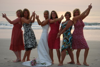 st. augustine beach wedding bridal party