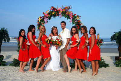 tropical floral beach wedding clearwater florida