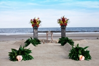 floral pedestals - tropical with aisle.jpg