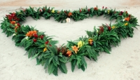 cocoa beach florida beach wedding floral heart.jpg